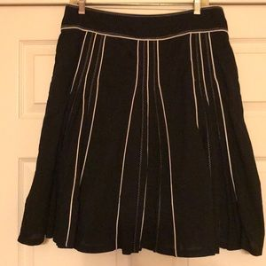 Black and white skirt size 10